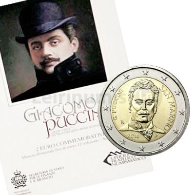 Moeda 2 Euros Giacomo Puccini - San Marino 2014