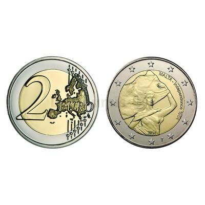 2 Euros A Independência de Malta 1964 Malta 2014