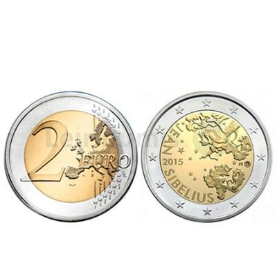 Moeda 2 Euros Jean Sibelius Finlandia 2015