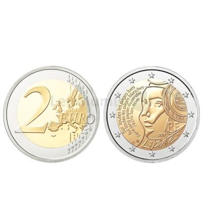 Moeda 2 Euros Liberdade - França 2015