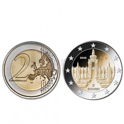 Moeda 2 Euro Alemanha 2016 A Saxony Dresden
