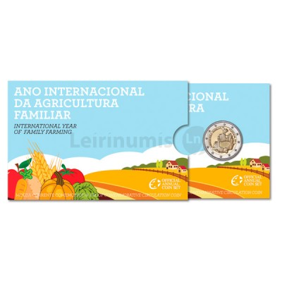 2 Euros Anos Internacional Agricultura Familiar Proof Portugal 2014