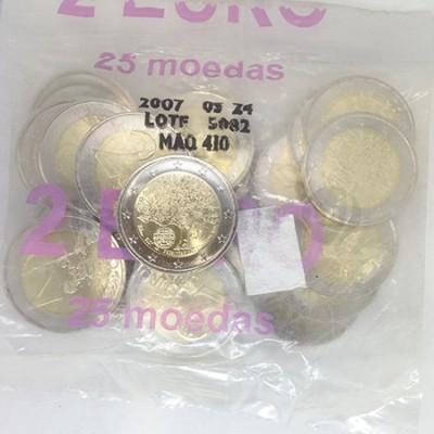 Saco 25 Moedas 2 Euros Presidência da UE Portugal 2007