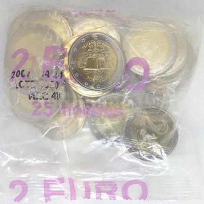Saco 25 Moedas 2 Euros 50 Anos Tratado de Roma Portugal 2007