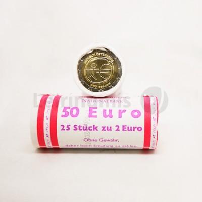 Rolo Moedas 2 Euros 10 Aniversário da UEM Austria 2009