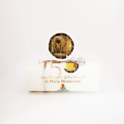 Rolo Moedas 2 Euros 150 Anos Nascimentos Maria Montessori de Itália 2020