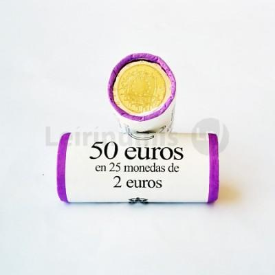 Rolo Moedas 2 Euros 30 Anos da Bandeira da Europa Espanha 2015