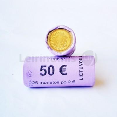 Rolo Moedas 2 Euros 30 Anos da Bandeira da Europa Lituânia 2015