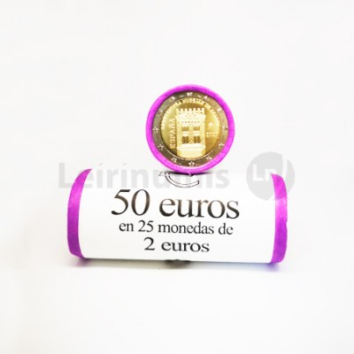 Rolo Moedas 2 Euro Arquitetura Mudejar de Aragon Espanha 2020