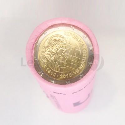 Rolo 25 Moedas 2 Euros Centenário da República Portugal 2010