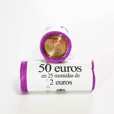 Rolo Moedas 2 Euros Cidade de Ávila Espanha 2019
