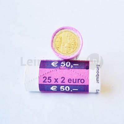 Rolo Moedas 2 Euros Dinastia de Nassau Luxemburgo 2015