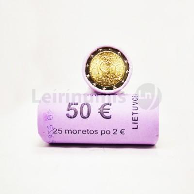 Rolo Moedas 2 Euros Idioma Lituano Lituânia 2015