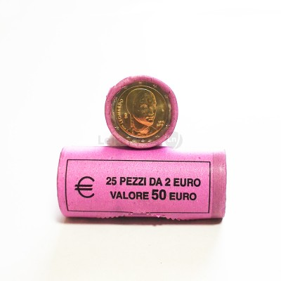 Rolo Moedas 2 Euros Leonardo da Vinci de Itália 2019
