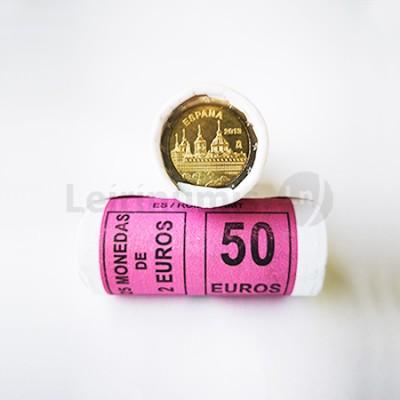 Rolo Moedas 2 Euros Mosteiro do Escorial Espanha 2013