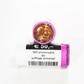 Rolo Moedas 2 Euro Sufrágio Universal do Luxemburgo 2019