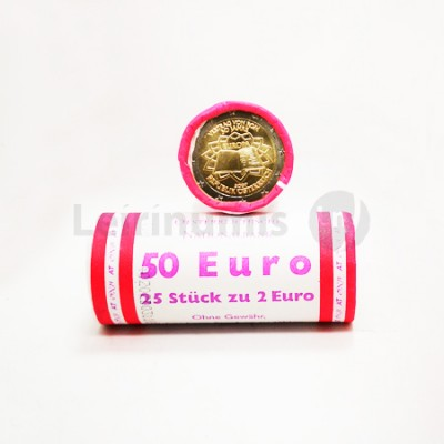 Rolo Moedas 2 Euros Tratado Roma Austria 2007