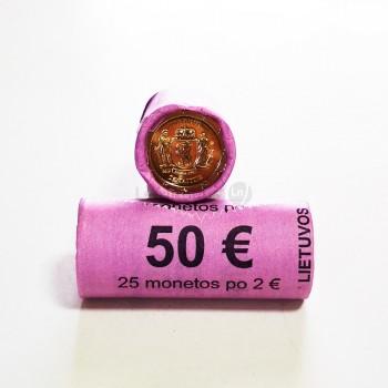 Rolo Moedas 2 Euro Zemaitija Lituânia 2019