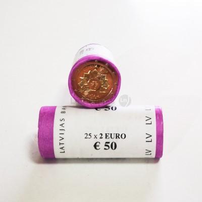 Rolo Moedas 2 Euros Sol Nascente Letónia 2019
