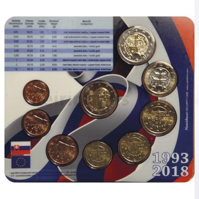 BNC - Eslováquia 2018 (Carteira c/8 moedas de 1 cent a 2€)