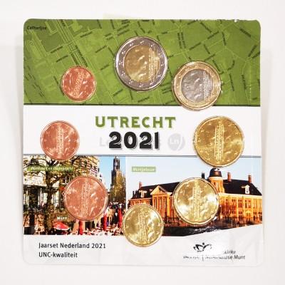 Set Moedas Euro Holanda em blister 2021