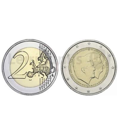 2 Euros Rei Alexandre e Rainha Beatriz Holanda 2014